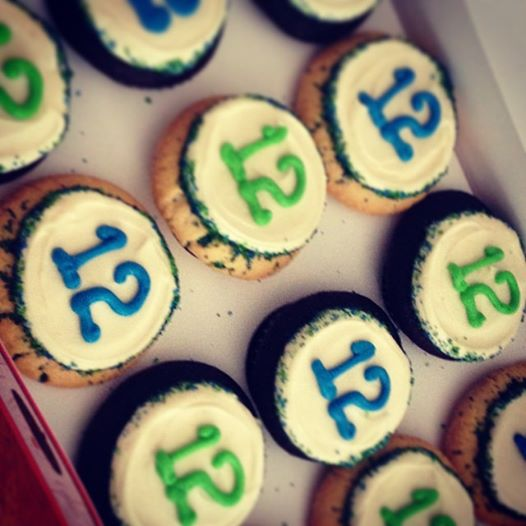 12th Man Cupcakes from Cupcake Royale. Yum.