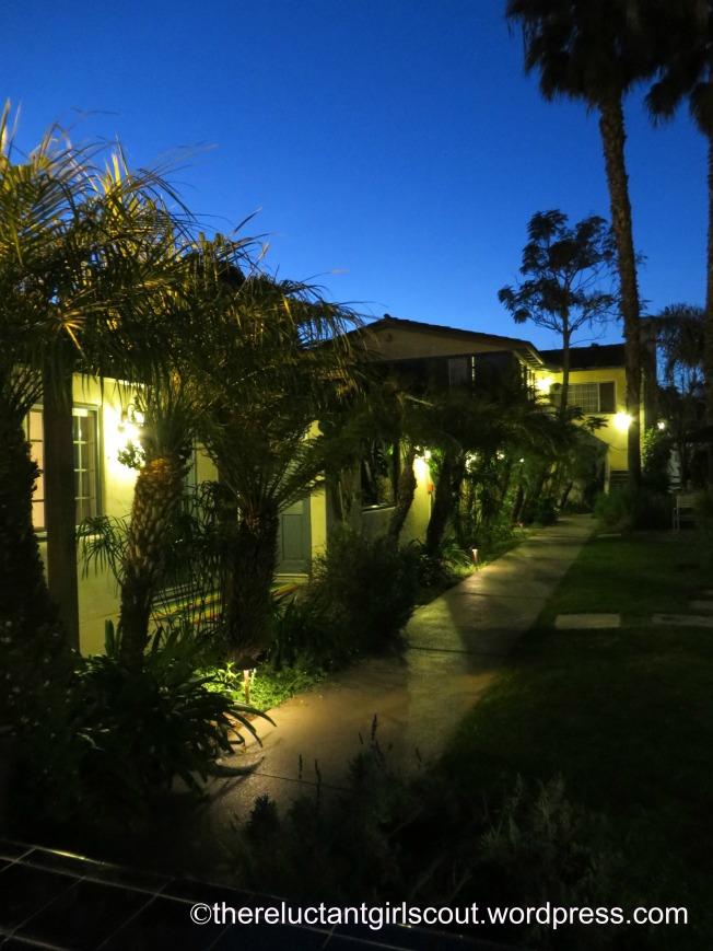 Hotel Oceana courtyard, Santa Barbara
