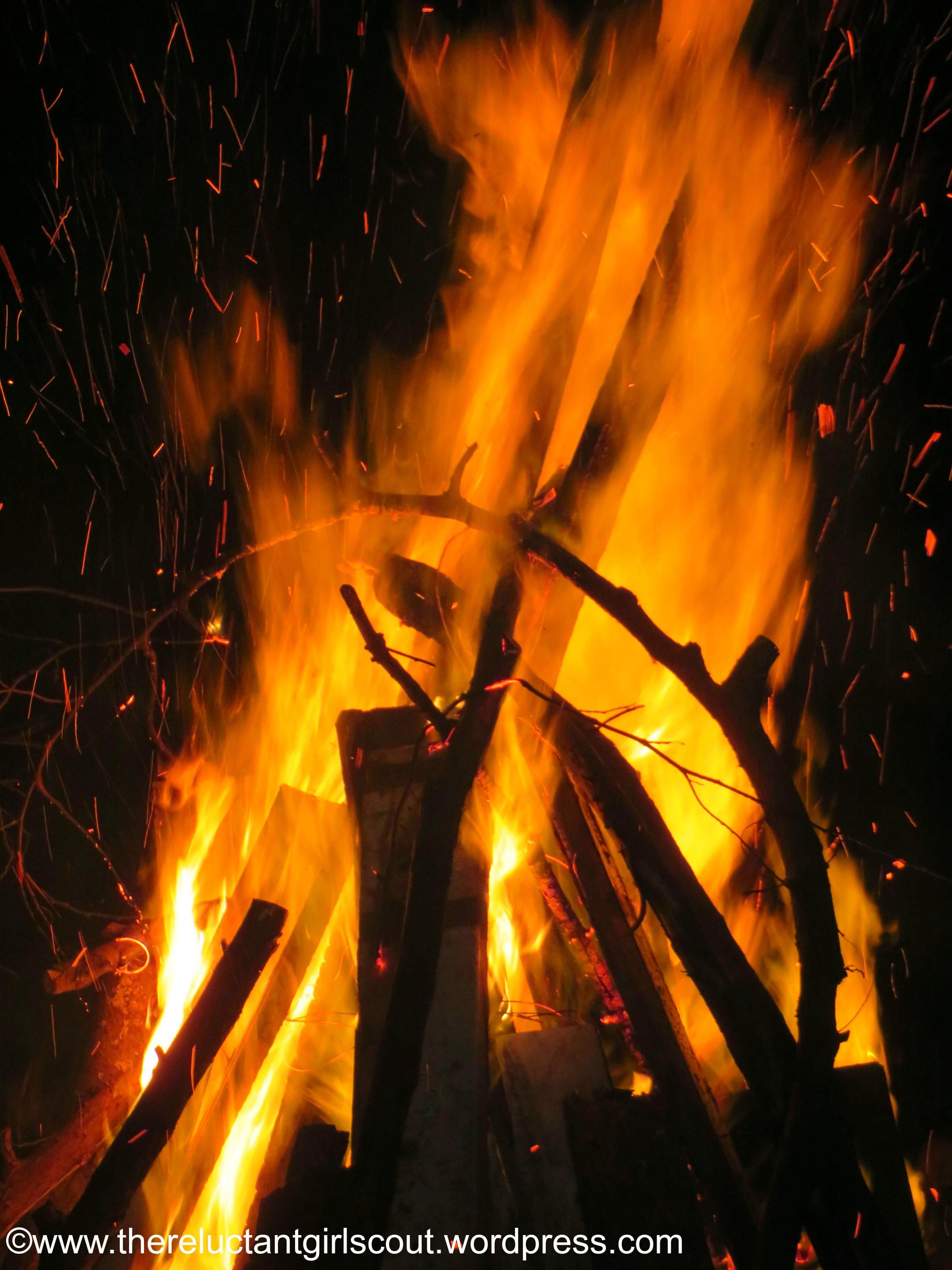 Viking winter bonfire, Poulsbo, WA