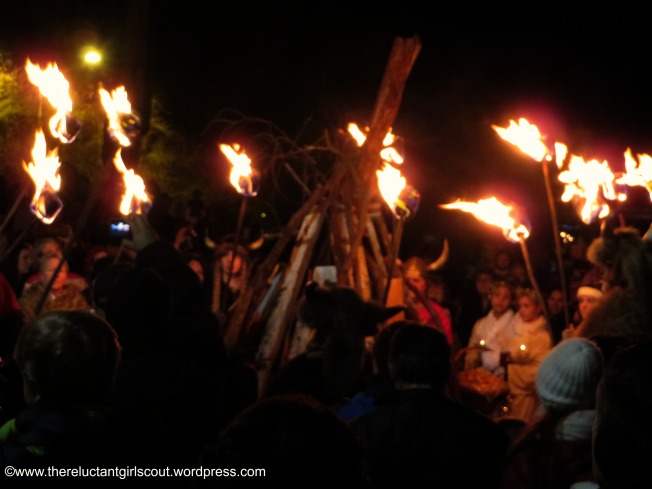 Vikings lighting the jule fire, Poulsbo, WA