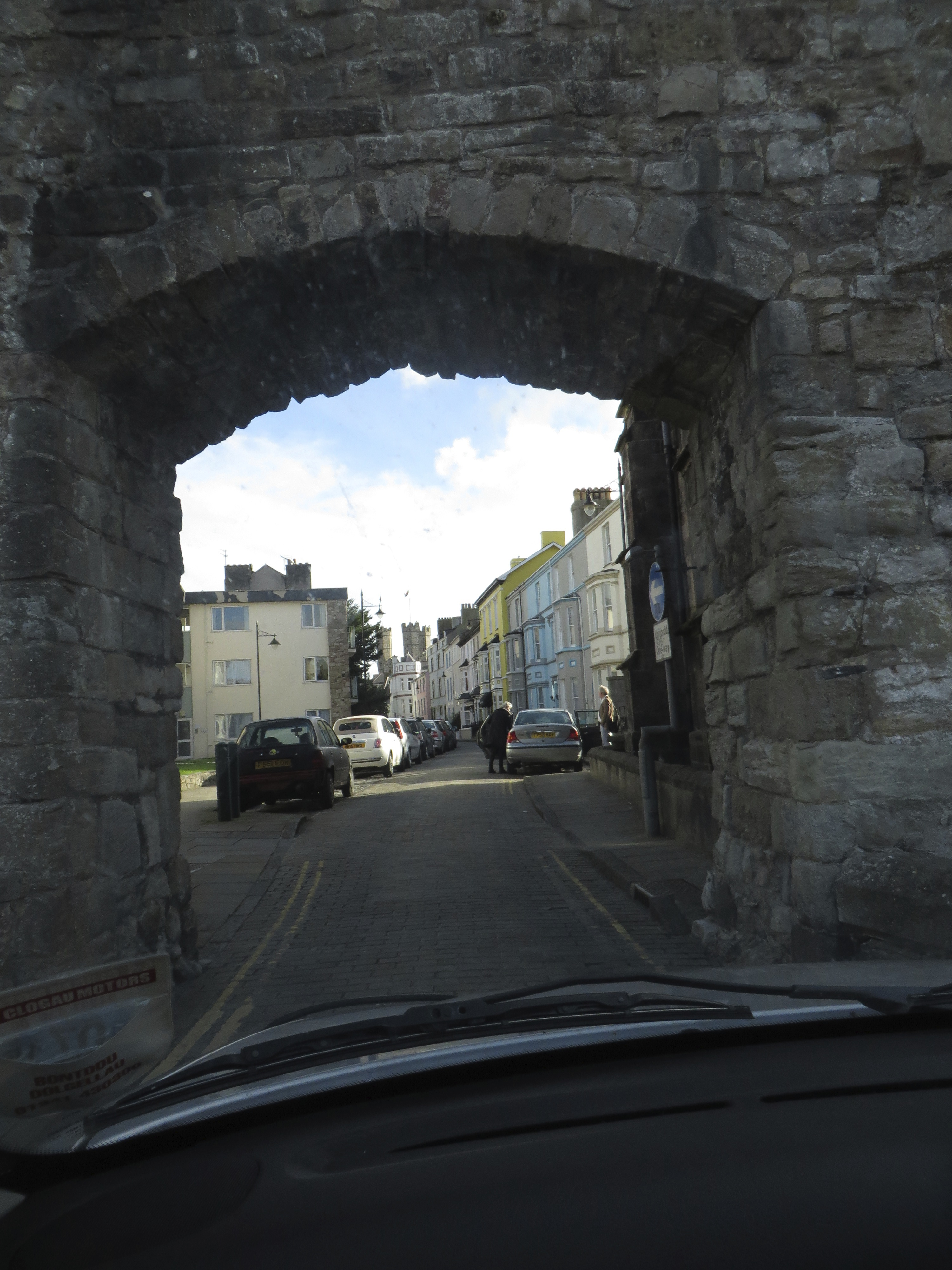 The narrow roads of Conwy