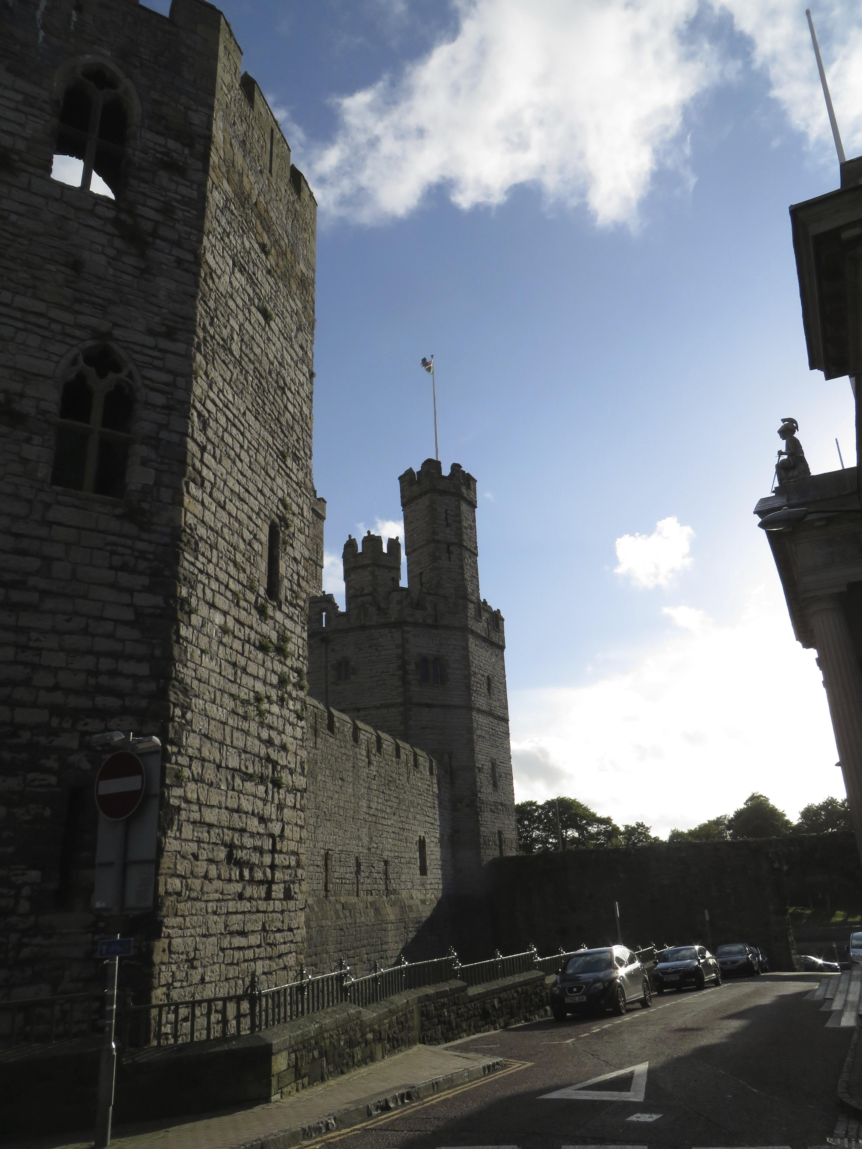 Caernarfon Castle after hours