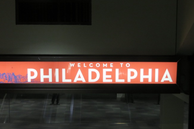 Greetings from the Philly airport.